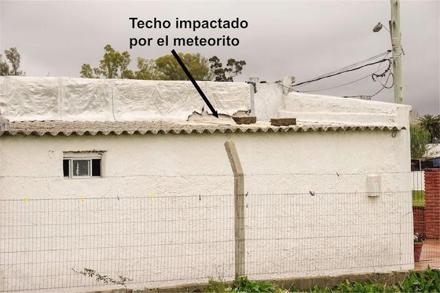 Meteorito cai em casa no Uruguai
