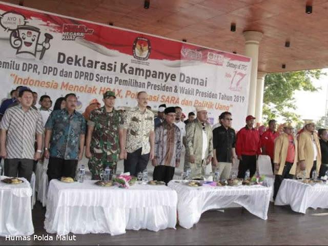 KPU Maluku Utara Gelar Deklarasi Kampanye Damai Pemilu 2019