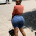 One of African most beautiful girl showing off her heavy backsides pictures