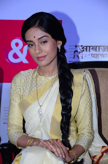 Actress Amrita Rao Pictures in Traditional Saree at New TV Show Launch  0005.jpg