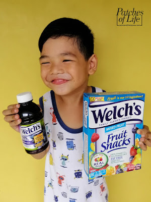 Happy kid with Welch's products