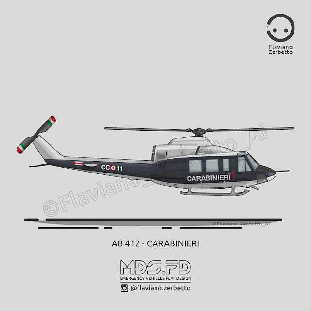 Elicottero 412 : Kombit ab carabinieri