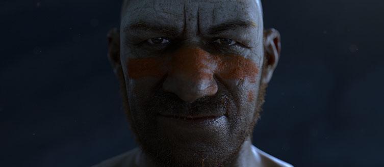 La imagen generada por ordenador de un hombre neandertal que los científicos han creado para un documental de la BBC. Foto: Jellyfish Pictures.