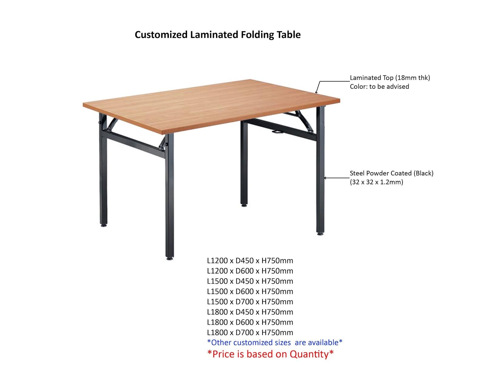 Customized Laminated Folding Table (MOQ: 10pcs)