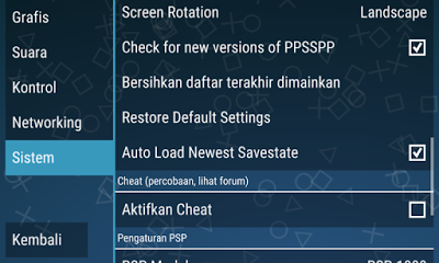 Cara setting sysmte di emulator PPSSPP agar PSP tidak lemot