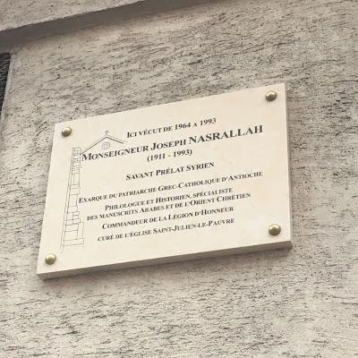 Monsigneur Joseph Nasrallah Plaque