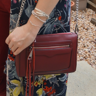 Rebecca Minkoff Avery crossbody bag in burgundy | awayfromtheblue