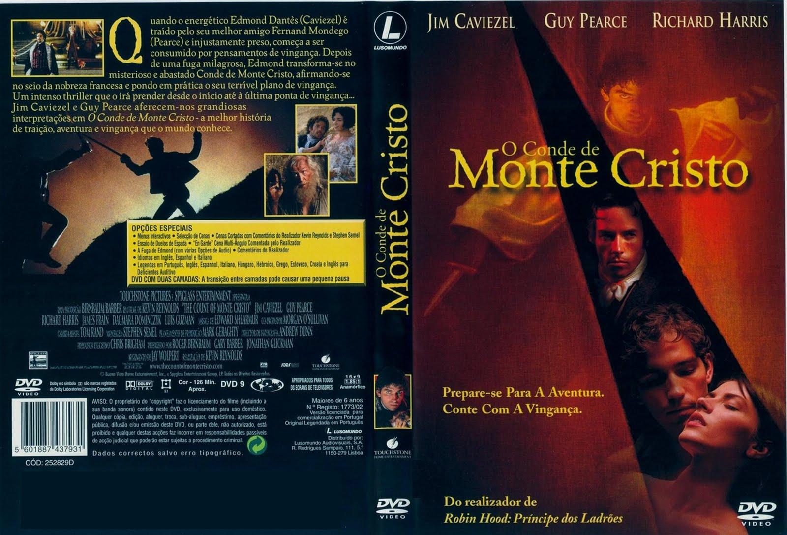 filme o conde de monte cristo bluray