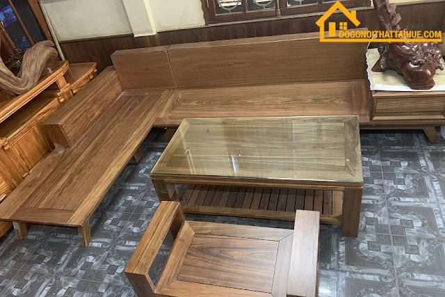 sofa góc gỗ tự nhiên, sofa góc gỗ mun, sofa goc, sofa goc dep, sofa goc dang cap