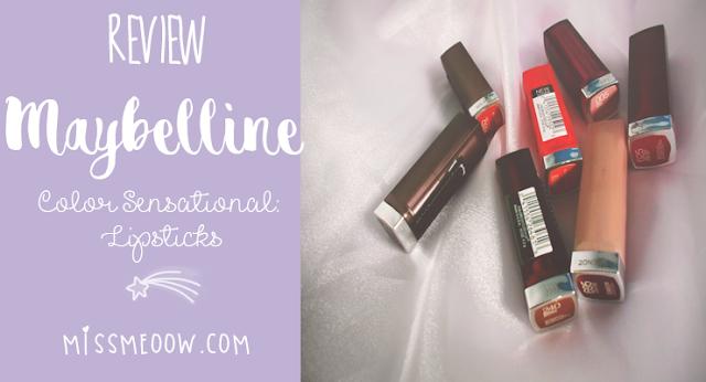 Maybelline Color Sensational: Lipsticks