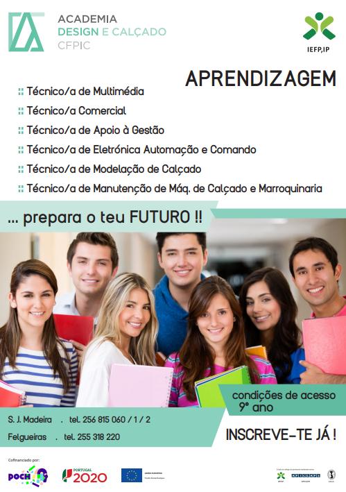 Cursos financiados em São João da Madeira e Oliveira de Azeméis (2018 e 2019)