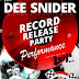 DEE SNIDER performing in Chicago and record store signing next Friday, October 28