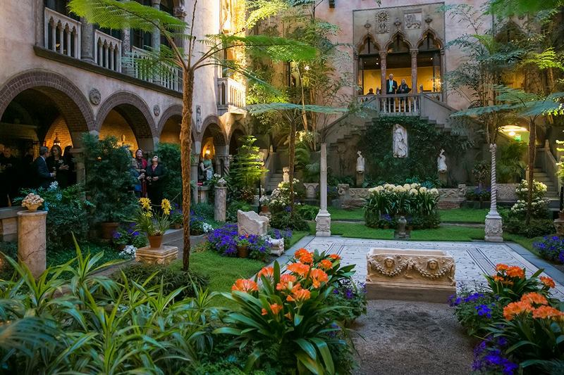 Patio interior en Museo de Isabella Stewart Gardner en Boston
