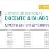 LISTADO DE PERSONAL DOCENTE JUBILADO A PARTIR DEL 1 DE OCTUBRE DE 2019