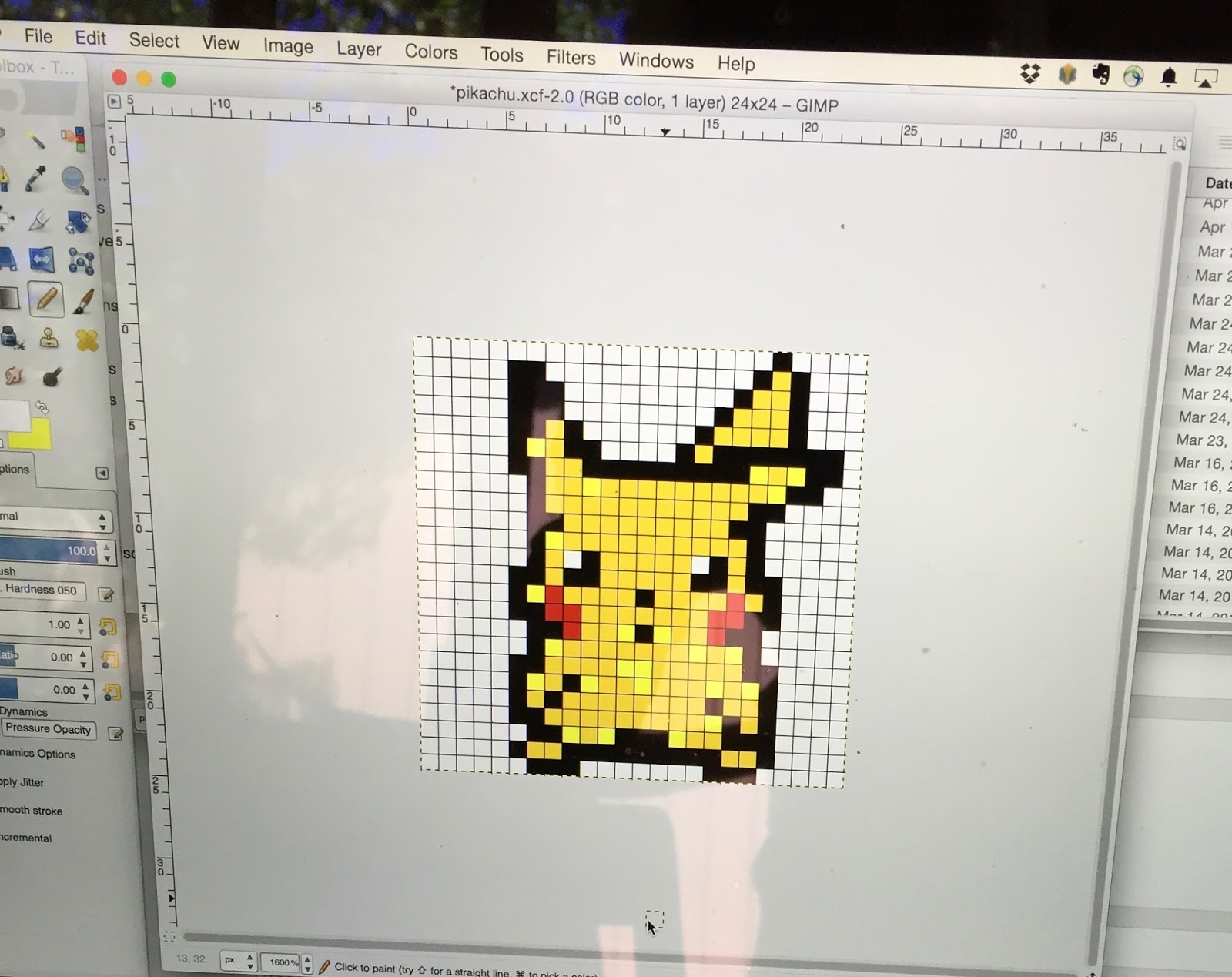 Fiddling Marcus: Pixel Art