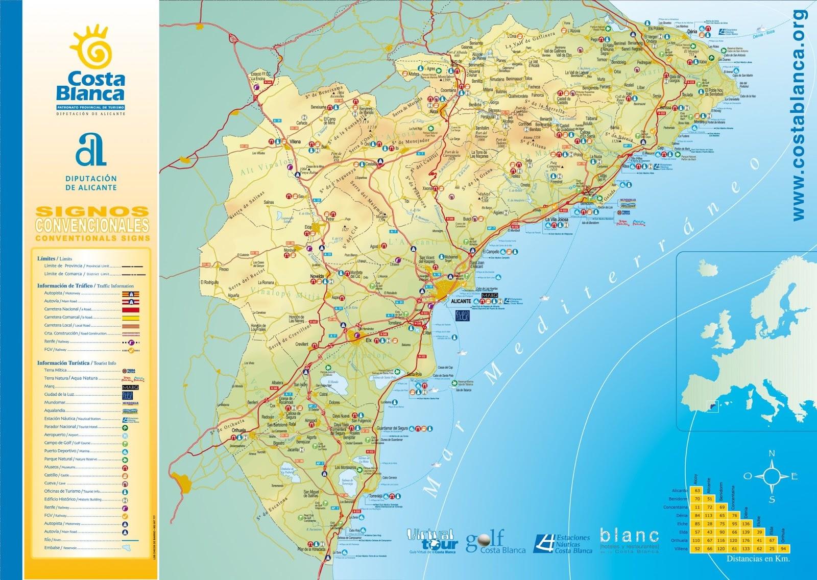 mapa costa de espanha Mapas de Alicante   Espanha | MapasBlog mapa costa de espanha