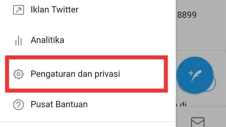 Cara mengganti nama email Twitter
