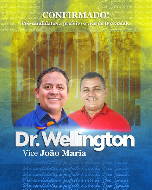 Dr. Wellington confirma João Maria Mesquita para vice