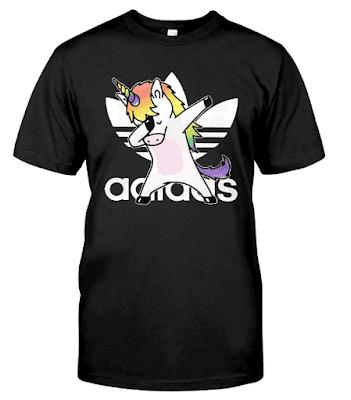 Unicorn Dabbing Adidas T Shirt