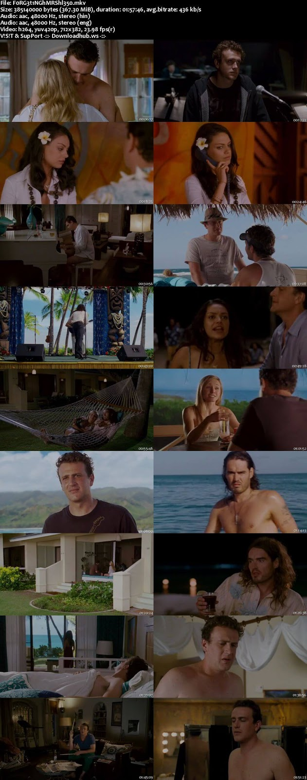 Forgetting Sarah Marshall 2008 Hindi Dual Audio 480p BluRay Free Download