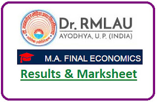 RMLAU MA Economics Final Result 2021