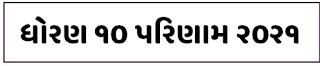 GSEB SSC Board Exam Result  2021 - Gujarat Board SSC Result 2021