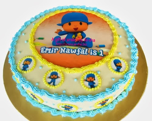 Birthday Cake Edible Image Pocoyo