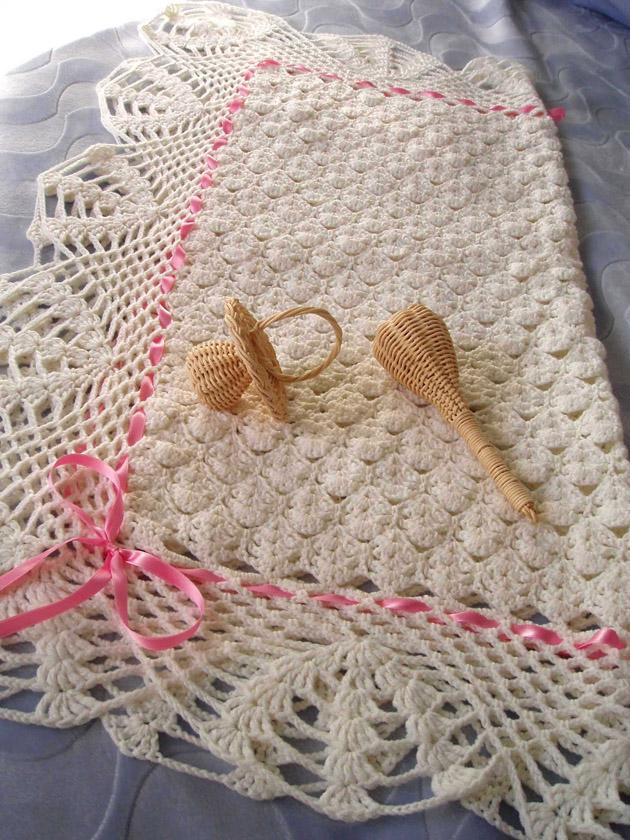 Manta de beb espacio crochet - Colchas ganchillo bebe ...