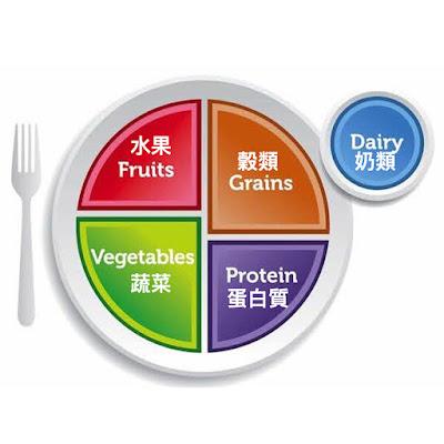 台灣營養師Vivian 【圖解營養學】美國「我的餐盤my plate」