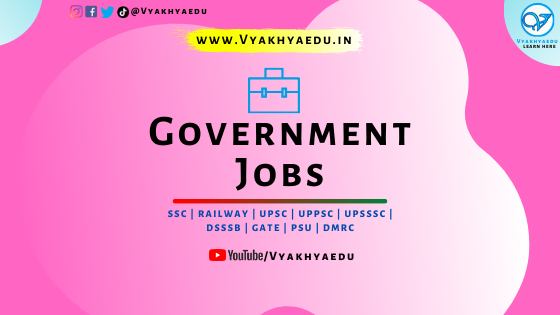 Government Jobs : Notification | Vacancy Details | Application Fee | Important Dates & Links | Syllabus | Books