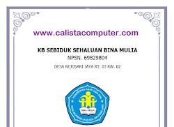 Contoh Format Raport PAUD Terbaru Mailing List
