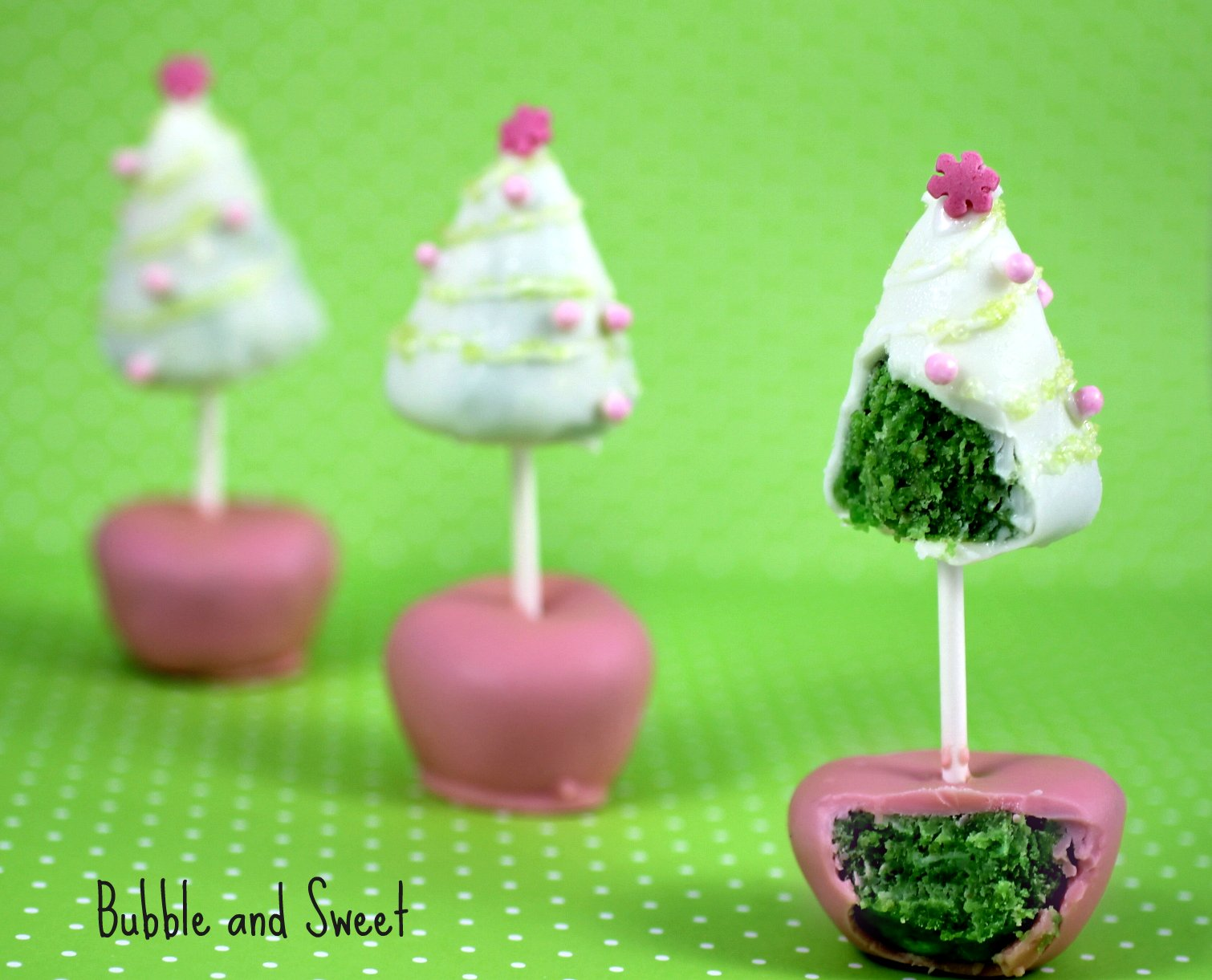 Bubble And Sweet: Christmas Tree Cake Pop