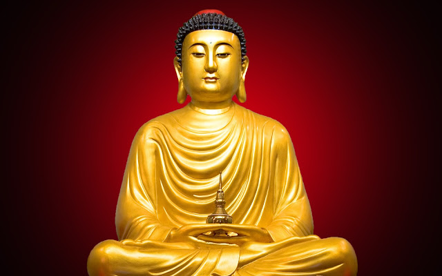 Best Lord Buddha  Wallpaper In Red Background