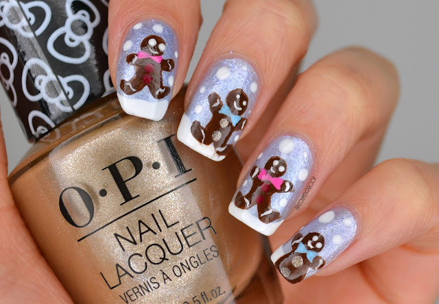 Gingerbread Man Nail Art