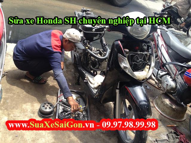 Sửa xe Honda SH chuyên nghiệp tại HCM