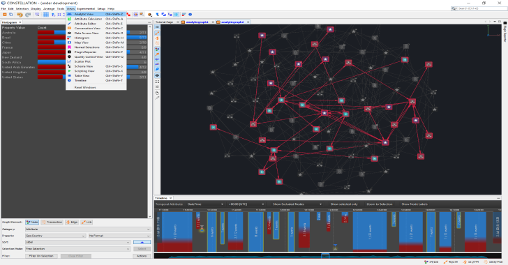 Constellation : A Graph-Focused Data Visualisation & Interactive Analysis Application