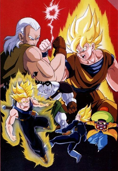Dragon Ball Z The Movie 7 Super Battle of Three Super Saiyas 3 ซุปเปอร์ไซย่า ปะทะ มนุษย์ดัดแปลง