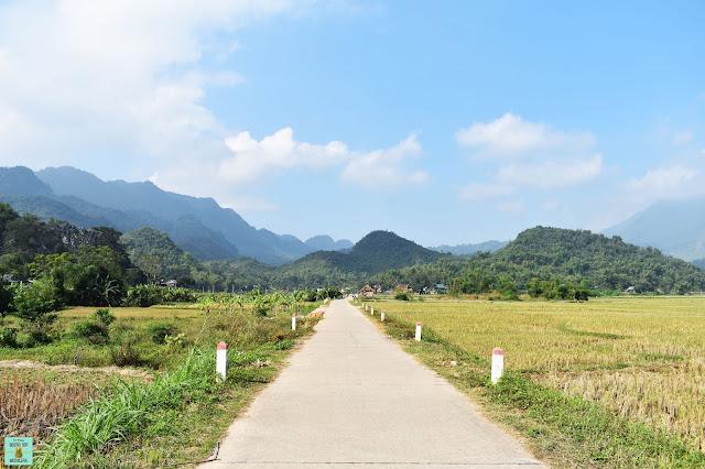 Paseo en bicicleta por Mai Chau, Vietnam