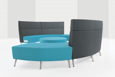 river modular reception seating with power