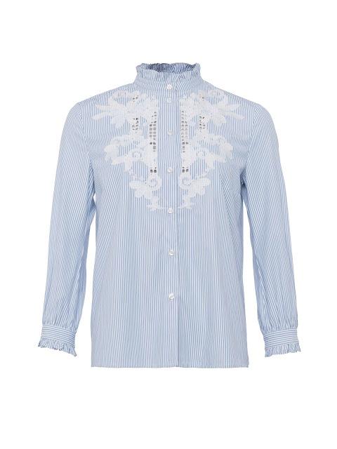 french connection olasega stripe grandad collar shirt