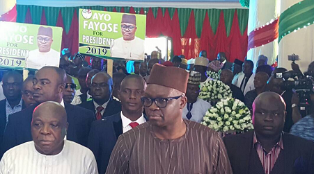 Photos From Fayose's Presidential Declaration Today