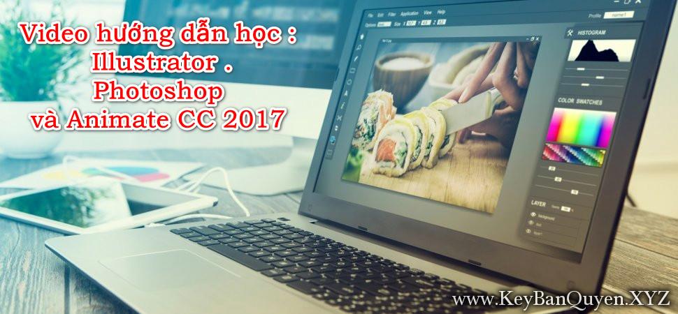 Video hướng dẫn học Illustrator, Photoshop và Animate CC 2017
