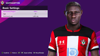 PES 2020 Faces Moussa Djenepo by Rachmad ABs