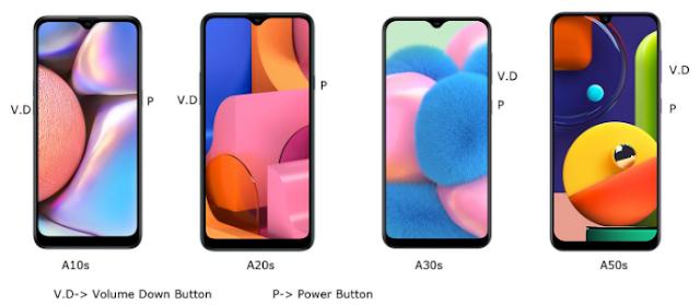 Cara Screenshot Samsung  Galaxy A10s / A20s / A30s / A50s 3
