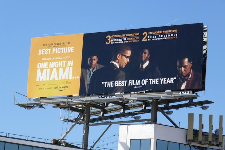 One Night in Miami Golden Globe nominee billboard