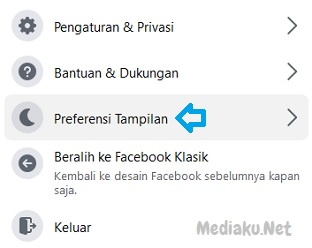 Ubah Tampilan Gelap Dan Terang Di Facebook