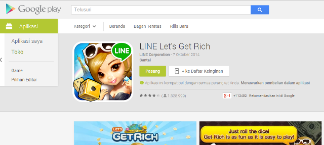 Cara Main LINE Let's Get Rich Android di PC atau Laptop
