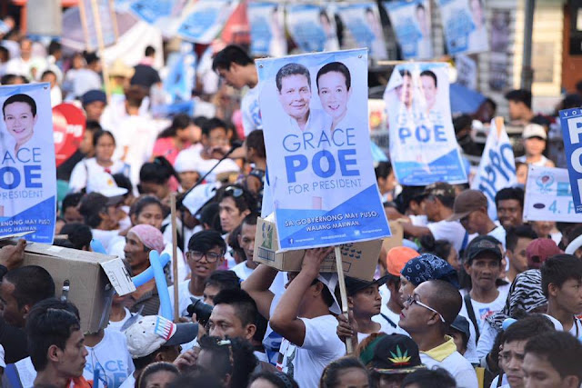 Grace Poe's miting de avance at Plaza Miranda