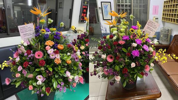 警察節向警消致敬 彰化縣政府贈花卉挺花農