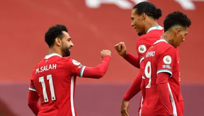 ليفربول 4-3 ليدز وهاتريك محمد صلاح